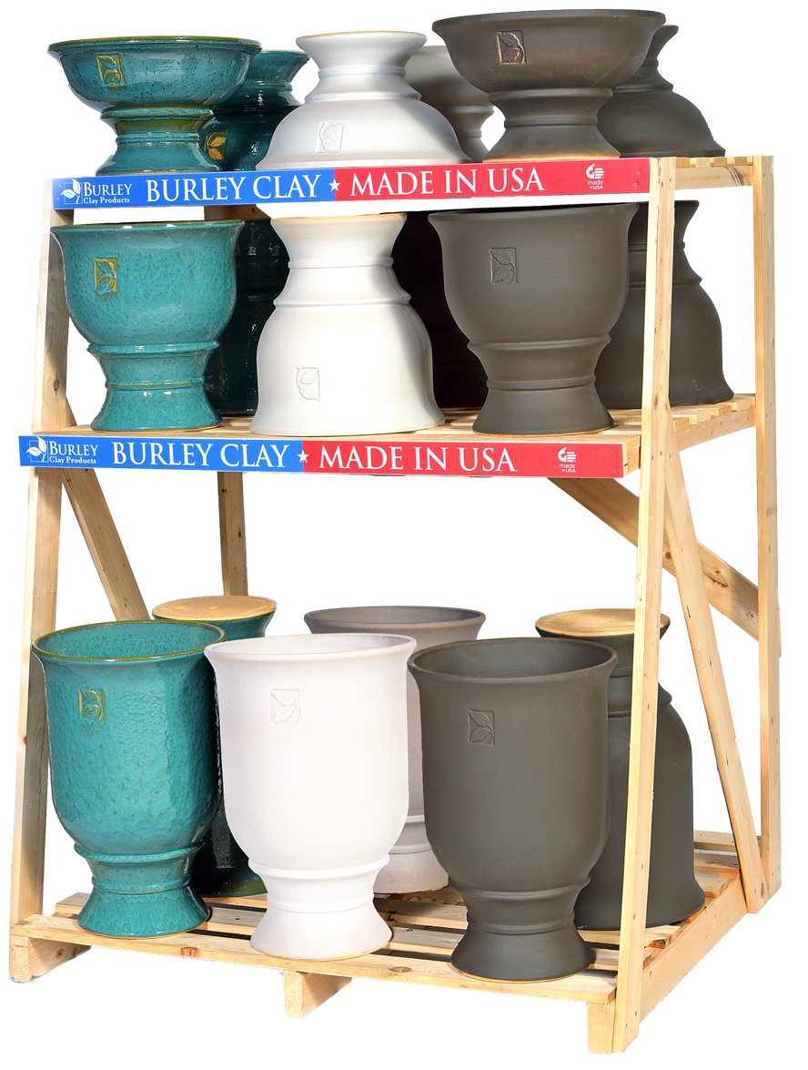 Veranda Urns Collection with White